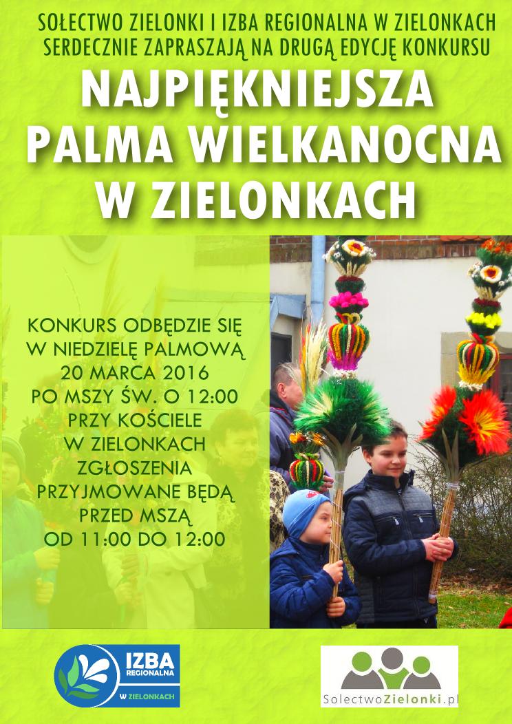 plakat o konkursie na palmę wielkanocną