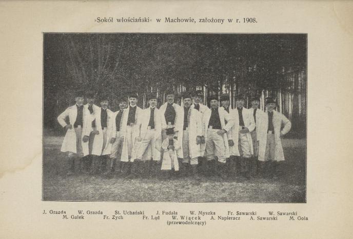Archiwalne zdjęcie grupy mężczyzn