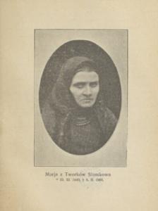Stare zdjęcie kobiety w chustce