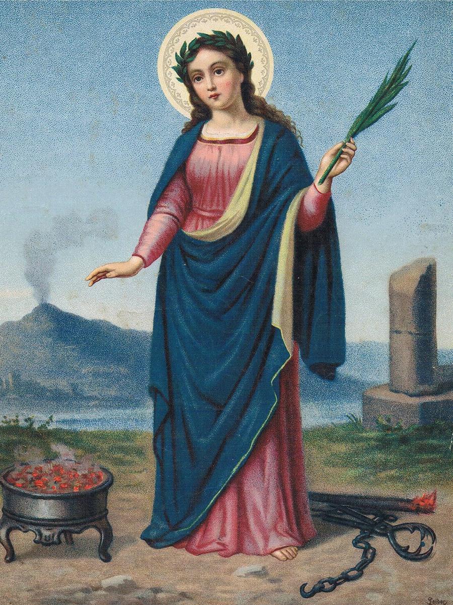 portret świętej Agaty