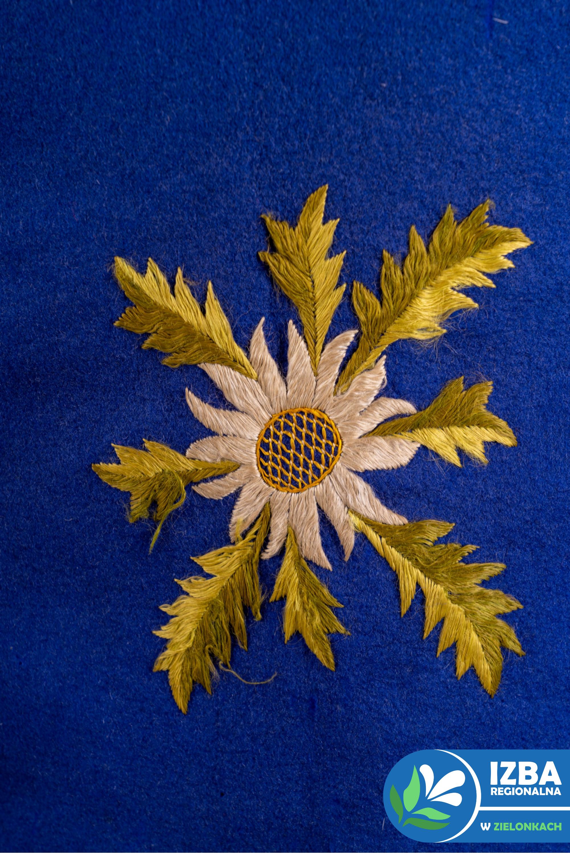 kamizelka chłopięca, haft, motyw roślinny