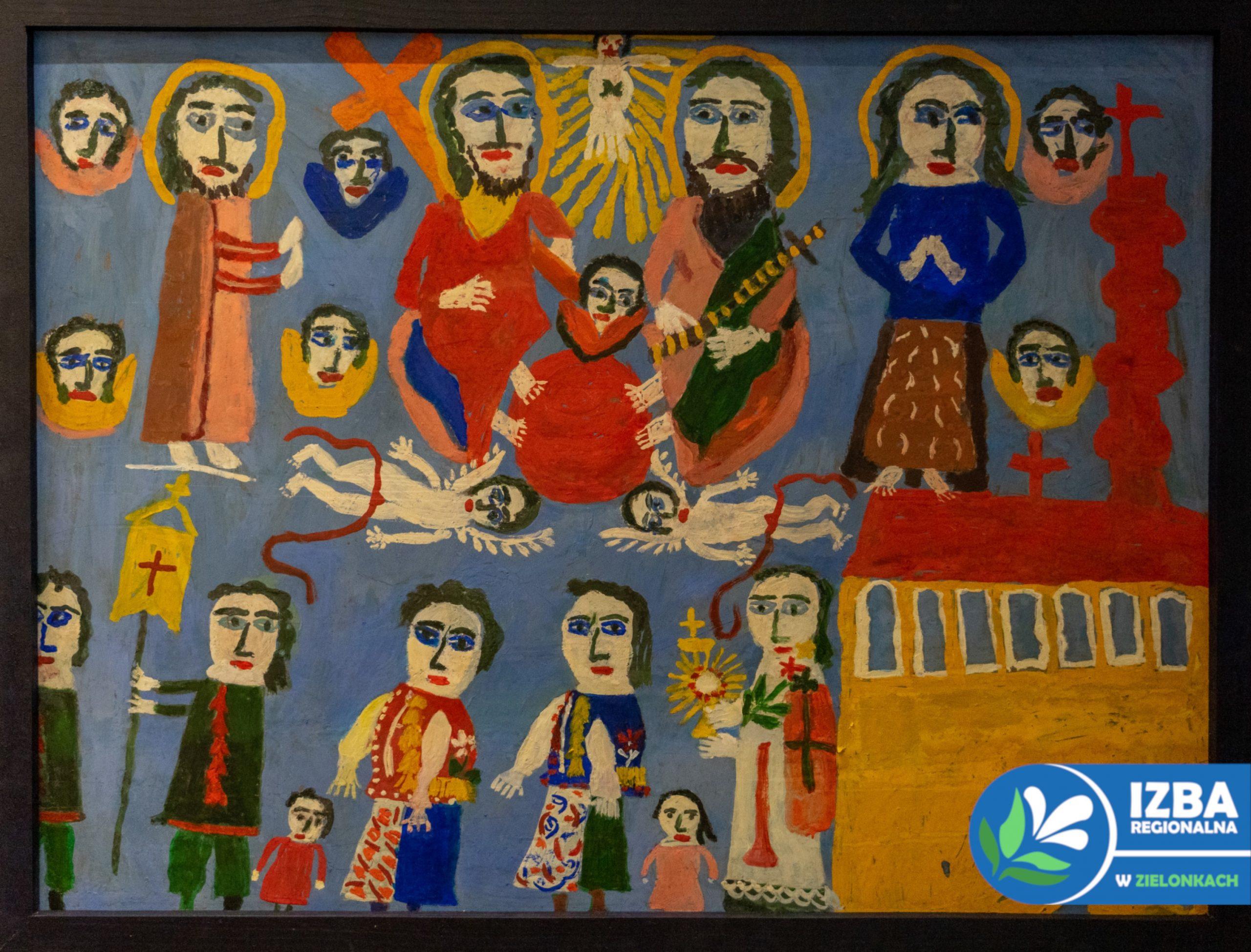 obraz przedstawiający procesję w Święto Trócy Świętej